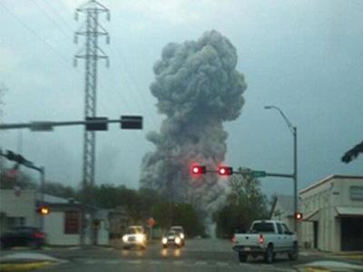 انفجار بمصنع للأسمدة