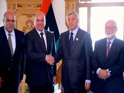 رئيس المؤتمر الوطني العام يستقبل نائب رئيس مجلس النواب الأردني