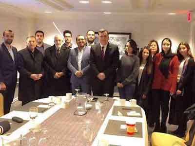 الجالية الليبية بأمريكا تلتقي فايز السرّاج
