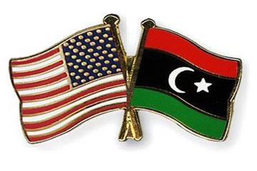 علم ليبيا والولايات المتحدة