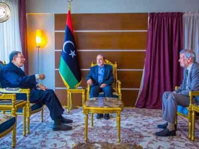 السويحلي يلتقي مبعوث جامعة الدول العربية إلى ليبيا