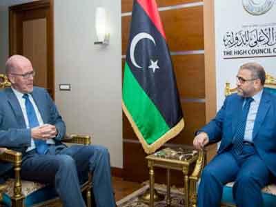 سفير هولندا يبحث مخرجات إعلان باريس مع المشري في ختام زيارته إلى ليبيا
