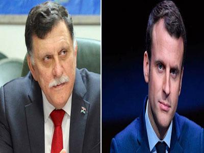 السراج يتلقى اتصالا هاتفيا من الرئيس الفرنسي