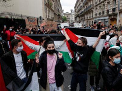 مظاهرات تعم المدن الاميركية الرئيسة تنديدا بالعدوان الاسرائيلي على الشعب الفلسطيني