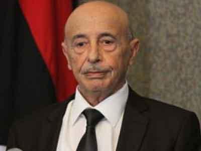 عقيلة صالح يبحث مع رئيس مفوضية الإنتخابات تذليل الصعاب استعدادًا للانتخابات