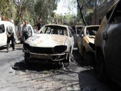 تفجير سيارة مفخخة قرب دمشق